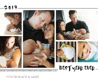 Best Year Ever Collage Holiday Photo Card