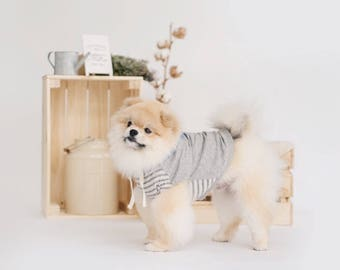 Oh! Basic Hoodie in Ripped Grey Stripes