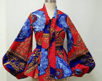 MALEEKA Ankara dashiki blouse, African clothing, Dashiki dress, Ankara dress, Ankara clothing, African print dress African print top, blouse