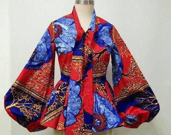 MALEEKA Ankara dashiki blouse, African clothing, Dashiki dress, Ankara dress, Ankara clothing, African print dress African print top, blouse