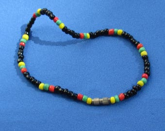 Retro Colorful Glass Beaded Anklet TLC