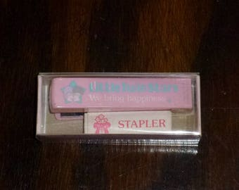 Vintage Sanrio 1976 Little Twin Stars Mini Stapler with Mini Box of Staples