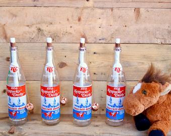 Set of Two - Vintage Tiki Torch Kentucky Derby RC Cola Soda Bottle