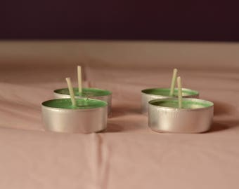 4 soy tealight candles