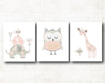Nursery Art Print, Art Print Set