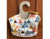 Teepee Time in this leakproof baby bib (Ready to ship)