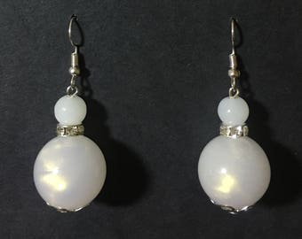 White Pearlesque Drop Earrings