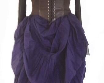 RENAISSANCE STEAMPUNK Skirt 3X 4X Plus 100% Cotton Hand Dyed CUSTOM Made Pirate Victorian Costume Medieval
