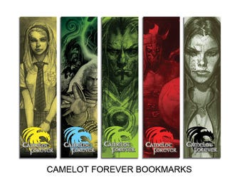 Camelot Forever Bookmarks King Arthur Magic Wizard