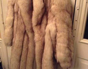 Beautiful Full length real fox fur coat
