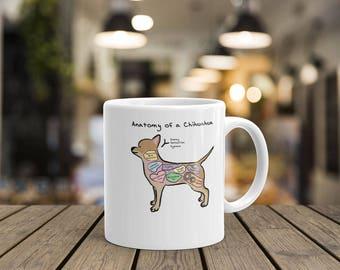Anatomy of a Chihuahua - Funny Chihuahua Dog Mug