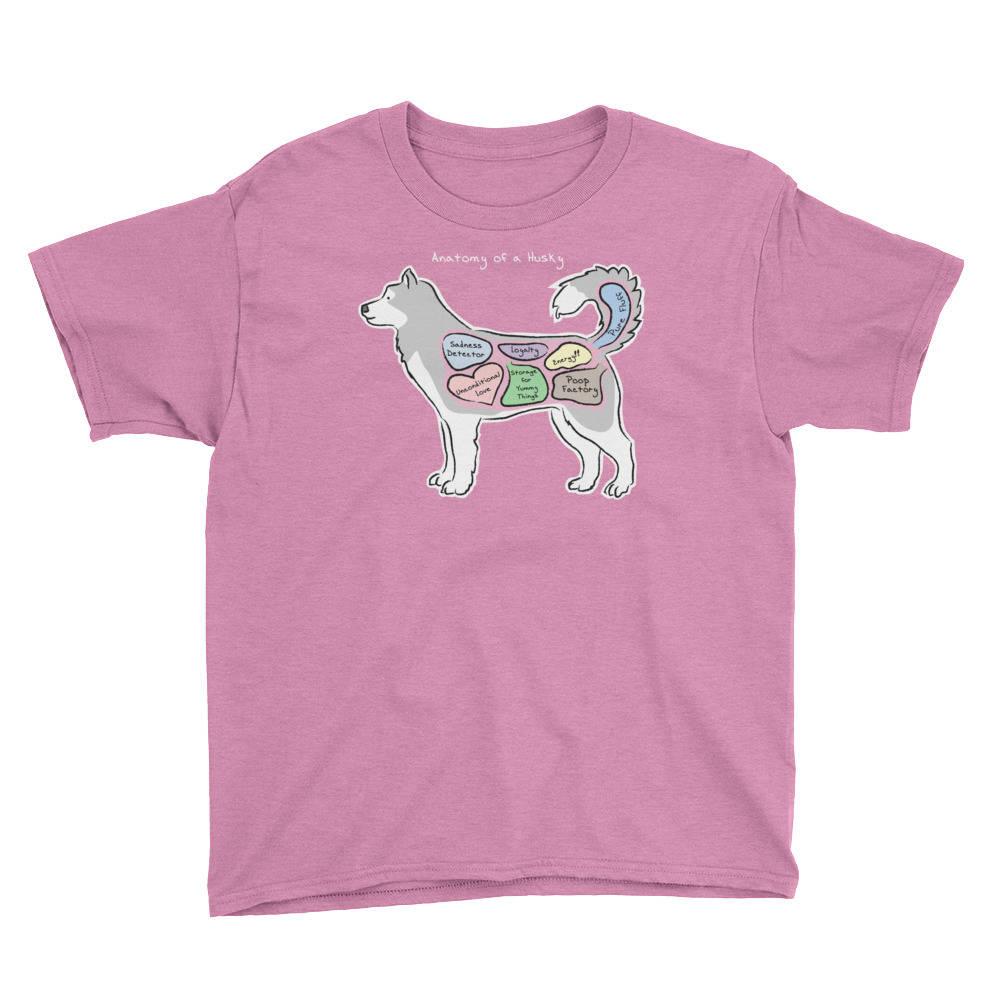 YOUTH TEE - Anatomy of a Husky - Funny Siberian Husky Dog Shirt ...