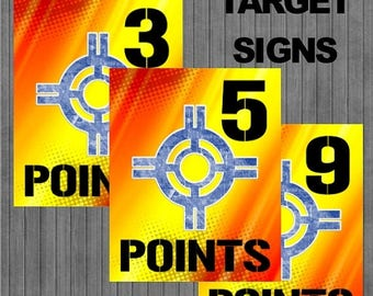 FLASH SALE Nerf Target Signs