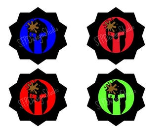 Spartan Cupcake Toppers - Instant Download (Primary Colors)