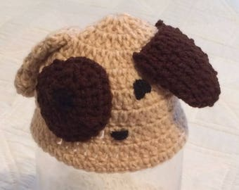 Crocheted Puppy Baby Hat