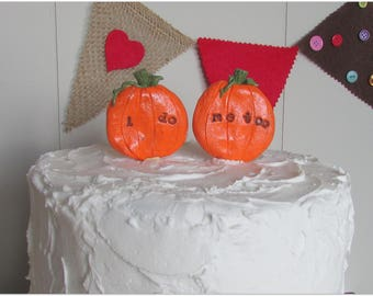 Pumpkin Wedding Cake Topper, Fall Wedding Cake Topper, Fall Wedding, Pumpkin Wedding, I Do Me Too Pumpkins, I Do Me Too Cake Topper,Pumpkins