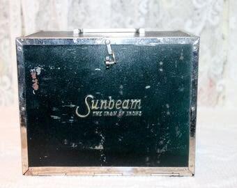 Vintage Sunbeam Prilect No 2027 Iron in Metal Box