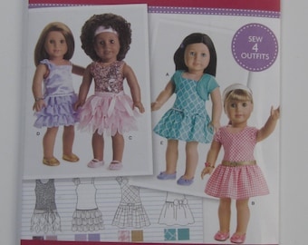 "18"" Doll Clothes Pattern Simplicity new uncut #8360"