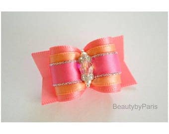 """Coral Infusion 7/8"""" Dog Bow"""