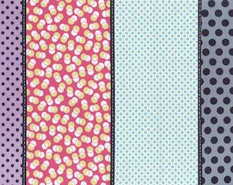Moda Jen Kingwell Lollies Specks Snapdragon Stripe 18100-12  Multi Fabric BTY 1 yd