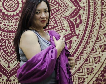 9 foot Mexican Rebozo For Partera Midwife Doula Birth Purple