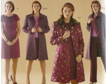 Simplicity Threads  Pattern 4408 DRESS Top PANTS Skirt COAT Women's Sizes 18W 20W 22W 24W