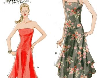 Very Easy Vogue Pattern 8065 HALTER & STRAPLESS DRESSES Misses Sizes 6 8 10 12