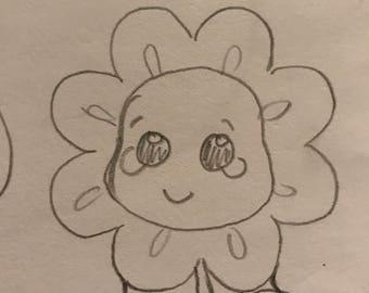 Kawaii Flower 2 cookie cutter