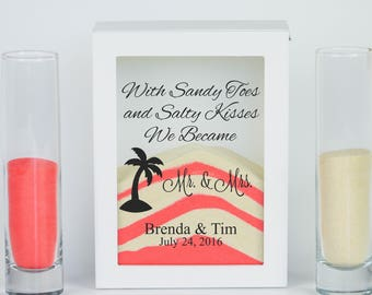 Beach Wedding Sand Ceremony Set Destination Tropical Unity Candle Alternative