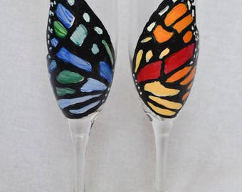 Butterfly Champagne Glass Set