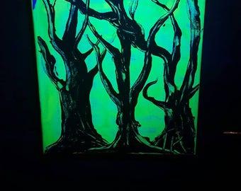 Blacklight Reactive Original Painting