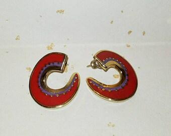 Vivid Laurel Burch post earrings. Hitoshi.