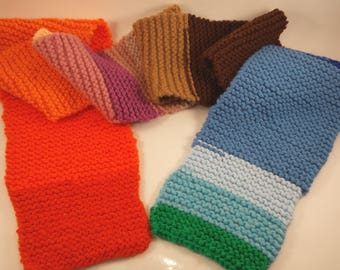 100% Acrylic Knitted Scarf made from Scraps