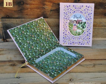 Hollow Book Safe - Heidi - Leather Bound