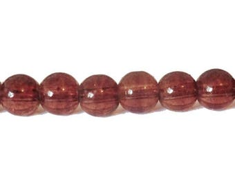 """10 x 8mm """"Speckled"""" chocolate glass round beads"""