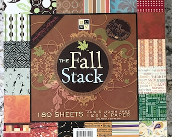 DCWV The Fall Stack 12X12 Scrapbooking Tablet