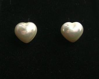 Vintage Butler & Wilson Heart Earrings - Pierced Ears - Vintage Earrings