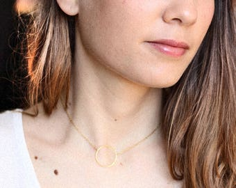 Round gold filled necklace