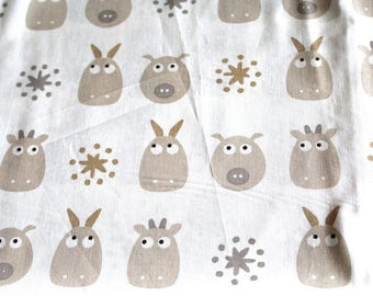 Fabric coupon 50 x 70 cm reindeer head
