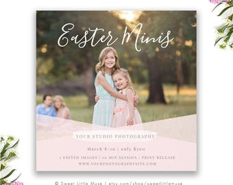Spring Mini Session Template - mini session template - photography marketing template Easter and Spring