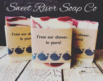 20 Wedding Favor Goats Milk Soaps, Bridal Shower, Baby Shower, Gifts, Farm Soap, Sweet River Soap Co, 20 2oz bars