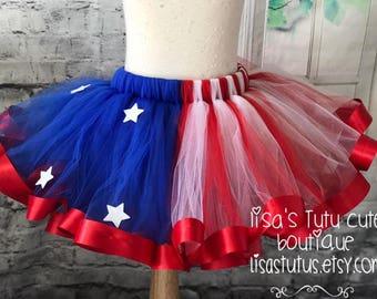 stars and stripes tutu, 4th of july tutu, fourth of july tutu, red white and blue tutu, independence day tutu, star tutu, american flag