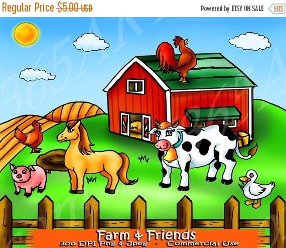 50 OFF Farm Clipart Clip Art Animals