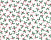 Sugar Plum Christmas- Holly Trees in White- Moda