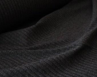 Gray Rib Knit