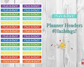 Happy Planner Classic Printable Header Stickers #YaY-&-DaY