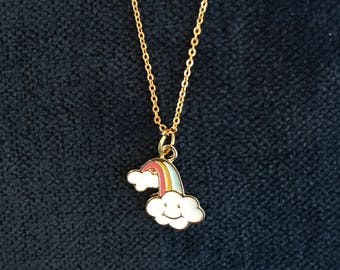 Rainbow Cloud Necklace Rainbow Cloud Jewelry