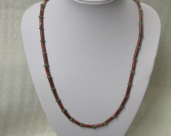 Connemara and Cork Marble Beaded Necklace