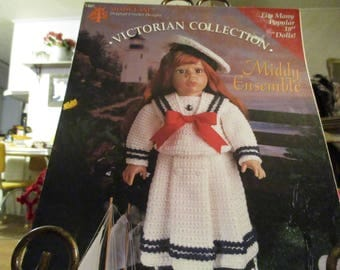 """Victorian Collection """"Middy Ensemble"""" Crochet pattern"""