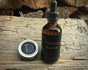 Dwarvendom Beard/Stache Combo Kit beard oil mustache wax kit all natural organic